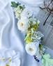アーティフィシャルフラワー横長フラワーベースアレンジ/アーティフィシャルフラワー/結婚祝い/誕生日祝い/開店祝い/ギフト包装/メッセージカード無料