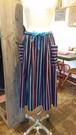SK-013 70's 紐ベルト2本付きストライプスカート Stripe skirt with 2 strings belt
