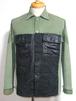 1940's U.S.ARMY 13星メタルボタン ペイントHBTシャツ 実寸(XS~S) アメリカ軍