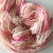 【手紡ぎ糸21-11】ピンクキラキラ --- スパイラルアートヤーン