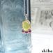 イエローオパールとルビーのネックレス【Melty necklace<Yellow opal/Ruby>】