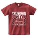 TSUBOMIN / BANDANA TSUBOMIN CITY T-SHIRT BURGUNDY