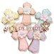 【期間限定セール360円】十字架のアイシングクッキー SHON-PY HEART 結婚式プチギフト