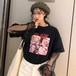 【トップス】人気TOP1プリントラウンドネックカジュアルTシャツ17290372