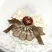 ひとくちチョコレートのブローチピン/【kp3-bp0010】/フェイクスイーツ ハート