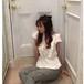 VB-086(cotton apron blouse)