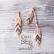 Feathers Asymmetrical Pierce/Earrings -Salmon Pink-