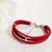 ●kono (red)絹組ひも5連ブレスレット