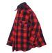 1960's [Woolrich] バッファローチェック ウールシャツ マチ付 レッド×ブラック 表記(16) ウールリッチ