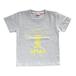 TASKO 「OPTAS」 Tシャツ キッズ120 ナチュラル&イエロー