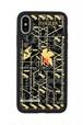 FLASH NERV 基板アート iPhoneXケース 黒【東京回路線図ピンズをプレゼント】
