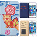 Jenny Desse AQUOS L2 ケース 手帳型 カバー スタンド機能 カードホルダー ブルー(ホワイトバック)