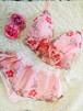 セットアップ♡ピンク花