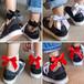 【即納可能】メッシュ 編み上げ リボン ソックス 靴下 RIBON ブラック レッド  ネットソックス