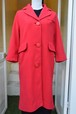 VINTAGE big button red coat