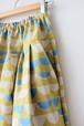 春のタックスカート黄色 ロングスカート 大きいサイズ 春服 ナチュラル おしゃれ 北欧