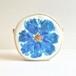 ブルーガーデン サークルポーチ 花柄 新色ブルーC