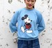 1980's [Disney CASUALS] ミッキーマウス ラグランスリーブスウェット ライトブルー 表記(M) ミッキーマウス