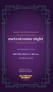 【métrotronne night】パンフレット