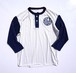 1970's〜80's ピンストライプ ベースボールTシャツ ホワイト×ネイビー 実寸(M位)