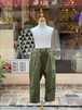 WOMENS:NEEDLE WORKS【ニードルワークス】Stretch-chino Pants(カーキ/S,Mサイズ)ストレッチチノパンツ