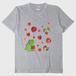 がおといちごみずたまTシャツ/ヘザーグレー