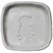 おすわりポーズのパグのシルエットが浮かぶお醤油小皿(四角)