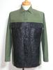 1960's U.S.ARMY ペイントファティーグシャツ 黒 実寸(M) アメリカ軍