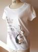 オリジナルデザイン白Tシャツ@ウサギ