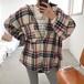 カラーチェックジャケットシャツ 1414