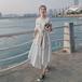 【dress】人気アイテム ! 質感のいい シンプル 不規則 イレギュラーデートワンピース