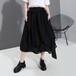 アシンメトリー ティアードスカート ハイウエスト 韓国ファッション レディース スカート 無地 ロング Aライン ウエストゴム 大人カジュアル 大人可愛い ガーリー 620202987206