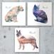オリジナルオーダーメイドファブリックパネル作成・犬猫、ペットの似顔絵/バッググラウンドアート