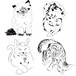 Rough touch illustration/Portraits of Dogs, Cats and Pets