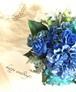 【アーティフィシャルフラワー】ブルーのグラデーションブーケ