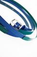 グラースオリジナル二重巻レザーベルト帯〆 青×緑