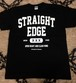 【1500→1000円】straight edge college tee black