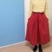 リネンタックスカート(ダークレット)リネン服 リネンスカート 赤リネン 天然素材