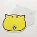 顔に好きなことを書けるネコ型ポストカード_すぐねこポストカード