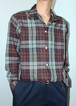 """Sears"" L/S Plaid Open Collaer Shirt"