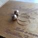 【pebble Ammi】 Vintage swirl pearl 14KGFフープピアス