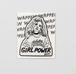 Walnut 刺繍パッチステッカー GIRL POWER