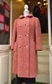 VINTAGE pink mix wool coat
