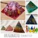 754【選べる8色♡オルゴナイト(四角錐)】天然石 パワーストーン レジン 水晶 ハンドメイド