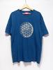 インディゴTシャツ(麻炭プリント)