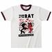 YEAR OF THE RAT リンガーTシャツ バーガンディ