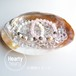 【パワーストーン浄化セット 天然貝のお皿+水晶さざれ 120g(大粒)】AAAAA級 浄化用水晶チップ パワーストーン 天然石[送料無料]