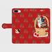 手帳型スマホケース「三毛猫とさくらんぼ」(iPhone6Plus/6sPlus ・iPhone7Plus ・iPhone8Plus ・Android L)