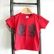 SALE【かまわぬ達磨 / ダルマ武藏限定Tシャツ】【子供半袖 110サイズ / 赤】