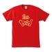 I'm ヤバイTシャツ 赤×ゴールド